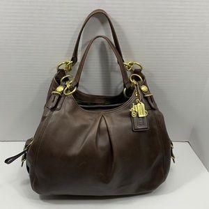 Coach Maggie Mia Madison brown leather bag
